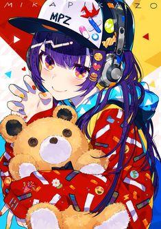 """anime girl, original art by """"mika pika zo Character Art, Cute Art, Art, Anime, Anime Characters, Anime Artwork, Anime Drawings, Aesthetic Anime, Kawaii Art"""