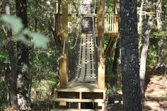 kids tree houses with rope bridge - Google Search