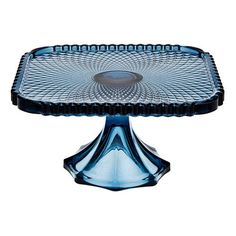 Have to have it. Godinger Belmont Blue 8 in. Square Cake Plate - $21.98 @hayneedle