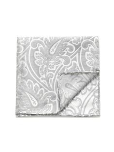 Silk & Linen Paisley Pocket Square, The Tie Bar
