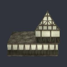3D model house08.max - Medieval house 3d model - 3D Models for Maya and 3ds max - 529 vertices - 712 polygons  See it in 3D: https://www.yobi3d.com/v/WoW1bKfej4/house08.max