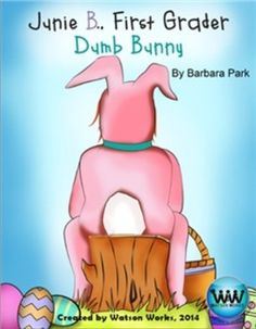 """ONLY $6.50 (reg. $8.00)!!  CHECK OUT OUR NEW PRODUCT!  These Easter themed ELAR activities accompany the hilarious book, Junie B., First Grader: Dumb Bunny by Barbara Park.  8 activities are included: 1) Story Elements 2) Cause/Effect """"SCOOT"""" game 3) Prefixes/High Frequency/Silent Consonants Spelling Game 4) Words with Silent Consonants Practice Sheet 5) Antonyms Matching Game 6) Butterfly Antonyms Practice Sheet 7) Irregular Action Verbs BINGO Game 8) Irregular Action Verbs Practice Sheet"""