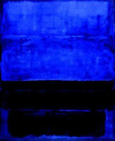 The great Rothko -- to use this painting as fashion inspiration find a brilliant blue and black colorblock dress and you'll be wearing the room in no time!