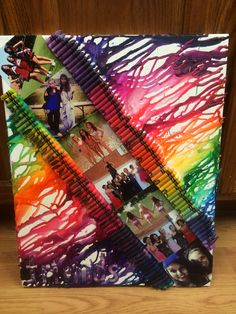 Melted Crayon Art - Friends Photo Collage (Had a blast helping my daughter make this for her friend as a birthday gift)