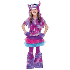 Polka Dot Monster Girls Halloween Costume - Medium
