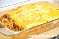 Baked Spaghetti Recipe | Panlasang Pinoy