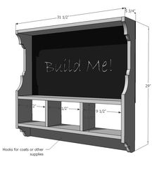 Ana White | Build a Chalkboard Cubby Shelf | Free and Easy DIY Project and Furniture Plans