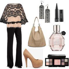 Professional yet flirty look for the Day Into Night fashion challenge