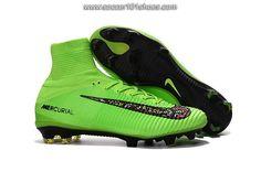 Nike Men's Mercurial Superfly V FG Football Boot Hi Top Soccer Cleat Fluorescent Green  $76.00