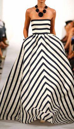 Oscar dela Renta 2013 stripe gown