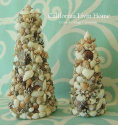 Small Coastal Shell Christmas Tree