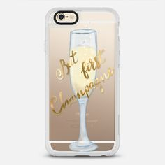 But first champagne - protective iPhone 6 phone case in Clear and Clear by Marta Olga Klara | The Little shinny gold details show your own style! Click to see more iPhone case designs >>> https://www.casetify.com/artworks/OfX0F8QM1o | @casetify