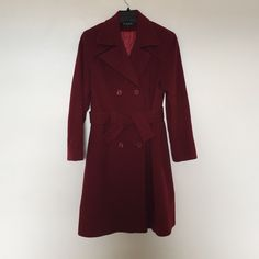 Nicole Miller cashmere and wool coat Gorgeous rich red coat. Super soft and warm. Hardy worn. Nicole Miller Jackets & Coats