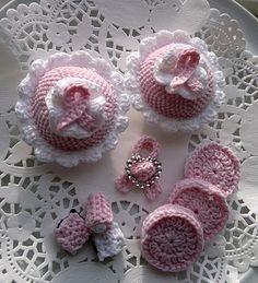 Lysesød: Crochet
