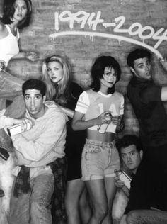 Jennifer Aniston, David Schwimmer, Lisa Kudrow, Courtney Cox, Matthew Perry, and Matt Leblanc... awesome people...