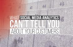 Social Media Analytics Can't Tell You How To Be A Customer-Centric Company - #infographic