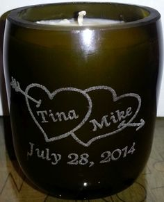 Custom Engraved Wine Bottle Candles! Coming Soon! www.sayitonwine.com