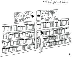 To Read or Not to Read...ha, ha. Book humour!  | book love |