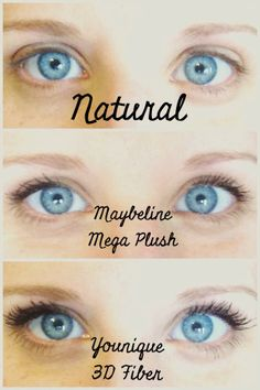 Amazing 3D mascara!!!  Add 300% lash length.  No false lashes or glue...just a primer and a fiber lash wand. By Younique https://www.youniqueproducts.com/DaniellePoche/party/97915/view