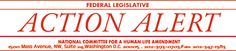 National Committee for a Human Life Amendment---CONTACT YOUR REPRESENTATIVES ABOUT SUPPORTING LIFE!