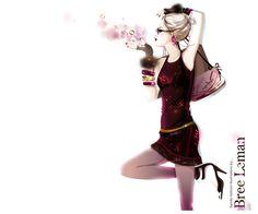 girly trendy fashion by BreeLeman #Illustration #Artistic