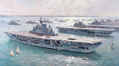 British and Commonwealth aircraft-carriers at the Coronation Fleet Review, 15 June 1953