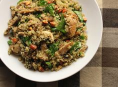 Mushroom Quinoa with Pesto & Almonds