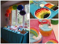 Resultado de imagem para festa de arco iris