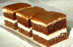 LoveAffair Cakes by mirela …: Milk Kocke / Milk Squares Baking Recipes, Cookie Recipes, Dessert Recipes, Food Cakes, Cupcake Cakes, Romanian Desserts, Croatian Recipes, Homemade Cakes, Chocolate Desserts