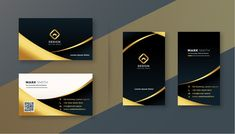 Conception de carte de visite premium no... | Free Vector #Freepik #freevector #carte de visite Premium Business Cards, Luxury Business Cards, Black Business Card, Modern Business Cards, Professional Business Card Design, Orange Yellow, Stock Photos, Visiting Card Design, Gold Business Card