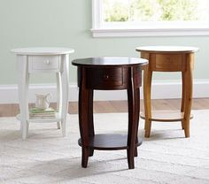 "Sleigh Side Table #PotteryBarnKids 19"" diameter, 26"" high $179"