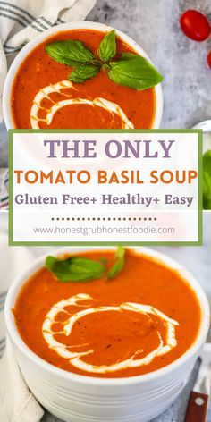 The only tomato soup recipe you need. It is so simple & is so creamy. This healthy, delicious packed soup is a one pot soup on the stove top. Nutritious, easy clean up and down right addicting. You are going to love this easy and healthy tomato soup!