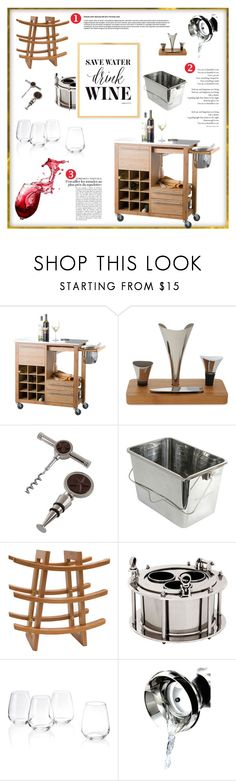 """""""Confessions of a Wine Snob"""" by fl4u ❤ liked on Polyvore featuring interior, interiors, interior design, home, home decor, interior decorating, Brandani, XD Design, Thirstystone and L'ATELIER d'exercices"""