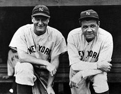 Lou Gehrig & Babe Ruth. Two of the greatest players & two of my favorites!