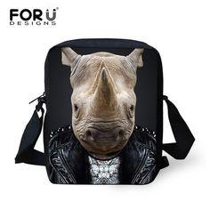 FORUDESIGNS Women Small Messenger Bags 2016 Fashion 3D Animals Panda Wear Clothes Print Crossbody Bag Female Travel Shoulder Bag