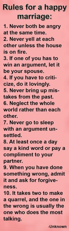 Positive Marriage Quotes - Happy Wives Club Very good rules. I think the most important thing I've learned from marriage so far is to be patient with one another and to be able to admit you're wrong. Among a lot of other things obviously ; Positive Marriage Quotes, Marriage Relationship, Happy Marriage, Marriage Advice, Love And Marriage, Marriage Couple, Relationship Sayings, Successful Marriage, Strong Marriage