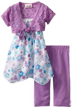 Amazon.com: Little Lass Baby-Girls Infant 3 Piece Skimp with Flowers: Clothing