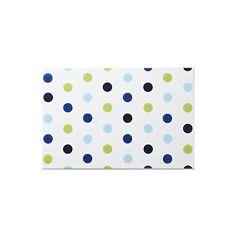 Spotty blue bathroom tile