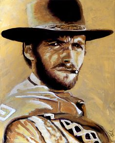 """The Man with No Name - 16"""" x 20"""" acrylic on canvas by Steve Gamba"""