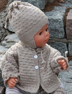 Milo hat and sweater. Free pattern but you must subscribe to a newsletter to receive it.