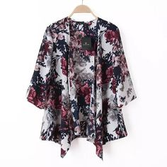 fashion women Spain style chiffon kimono cardigan tassel Regular Floral print blouse/mujer ropa camisas femininas Free Shipping-in Blouses & Shirts from Women's Clothing & Accessories on Aliexpress.com | Alibaba Group