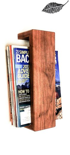 Made from beautiful American Black Walnut Hardwood, this minimalist shelf is perfect way to display magazines and books in your living room or office. The wood is beautifully grained, finished with na(Beauty Design Magazine)
