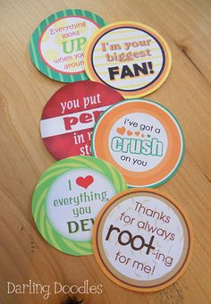 This would be a great fundraiser idea around valentine's day. Students could buy cans of crush for their crush (instead of giving a flower to a boy) and have them delivered to their class with these labels on them.