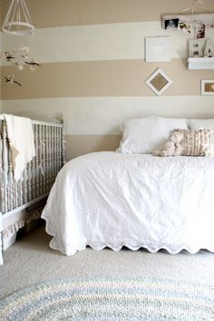 It's always a good idea, in my opinion, to have an adult bed (twin, double, or queeen), in a baby's room - for guests, for parents (when the baby is sick), to handle overflow. The baby can be moved out to a port-a-crib when guests arrive.