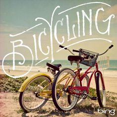 Bicycling. Typography by Jon Contino