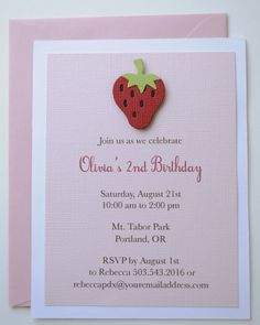 Strawberry invite