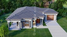 3 Bedroom House Plan - My Building Plans South Africa Single Storey House Plans, House Plans South Africa, House Construction Plan, 4 Bedroom House Plans, Tuscan House, Dream House Exterior, Building Plans, Future House, Mlb