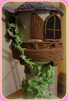 Rapunzel tangled tower birthday cake2!! Τούρτα Rapunzel2!!