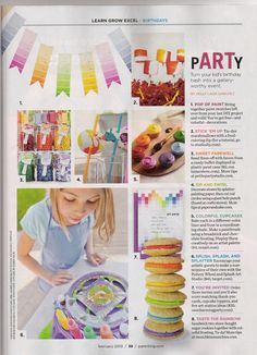 Art Party---like the cupcake pallet idea for the cake