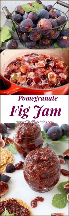 An easy homemade fig jam recipe, this is a divine marriage of sweet purple figs, tangy pomegranate and exotic Madagascar vanilla! | CiaoFlorentina.com